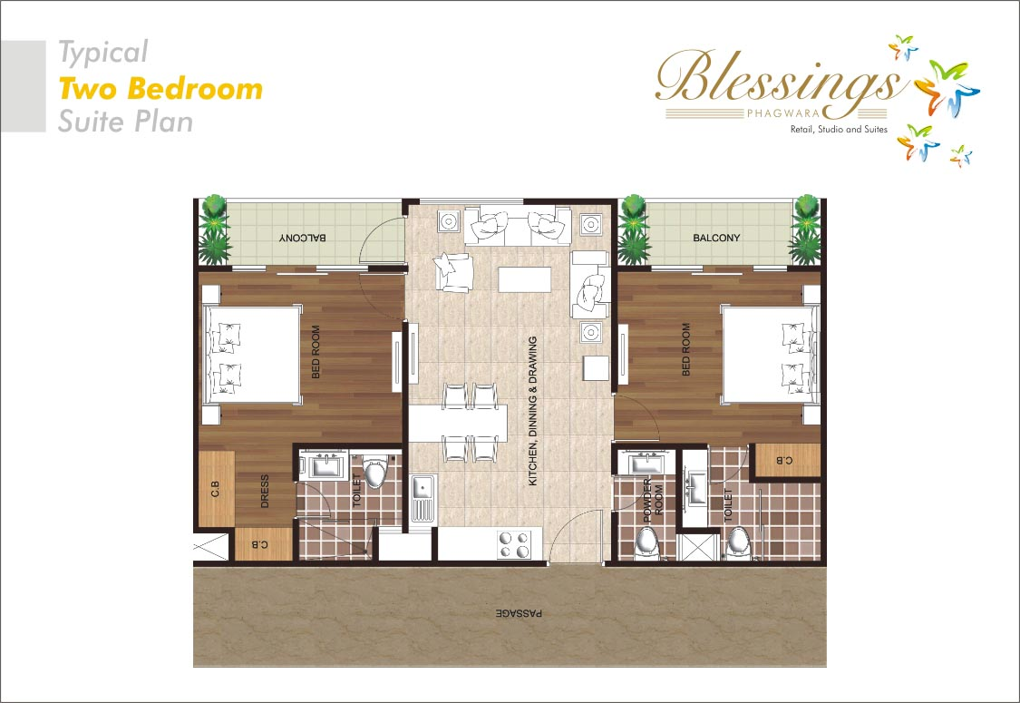 Blessings phagwara service apartments for Studio type plan
